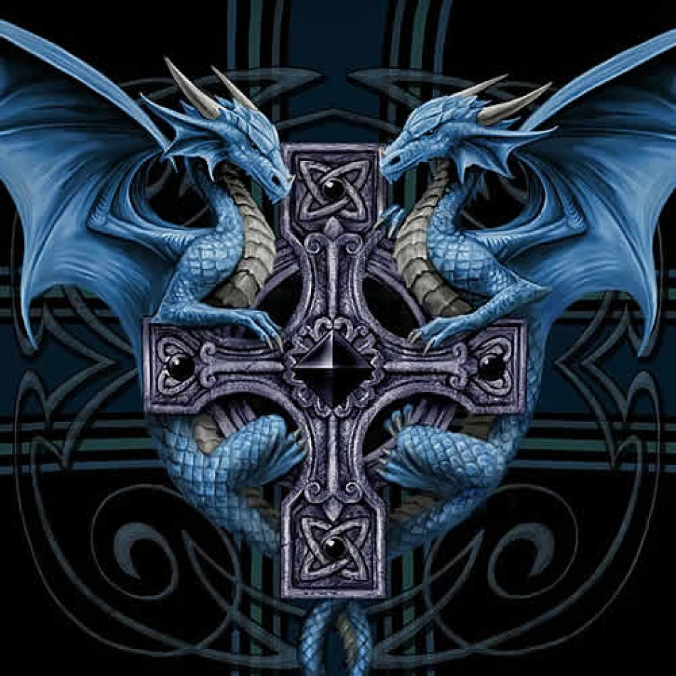 Image Result For Celtic Cross With Dragon
