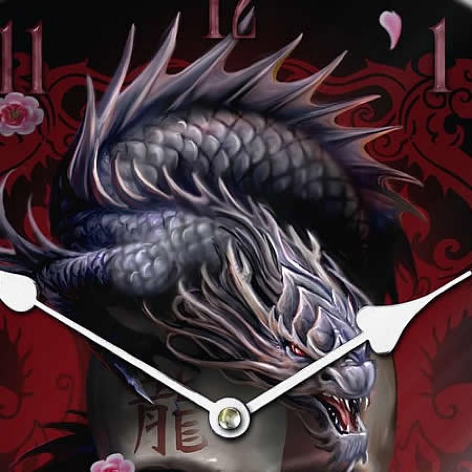 vampires kitchen nemesis now anne stokes eastern dragon skull glass clock. Black Bedroom Furniture Sets. Home Design Ideas